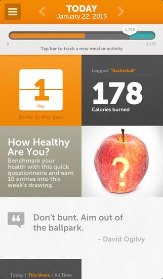 Shaklee 180 Weight Loss Mobile App Days Calendar